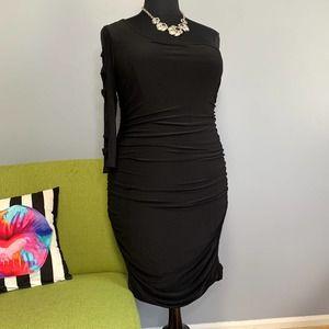 Torrid Black One Shoulder Ruched Bodycon Dress 2